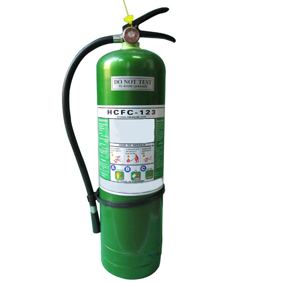 HCFC-123 Fire Extinguisher